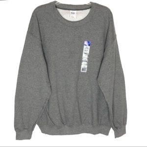 Gildan Gaphite Gray Crewneck Sweatshirt Large NWT